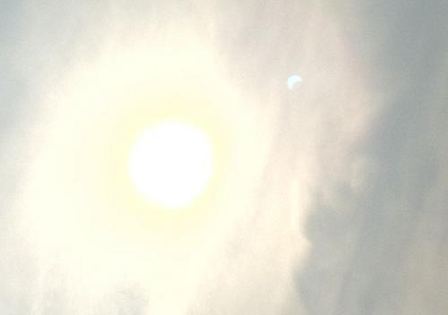 部分日食の影?